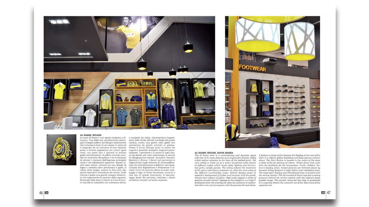 Redesign features in issue of 39 an l 39 arreda negozi for Arreda negozi shop